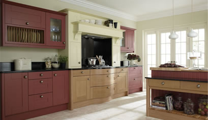 Painted collection fitted kitchen by Alderwood Furniture
